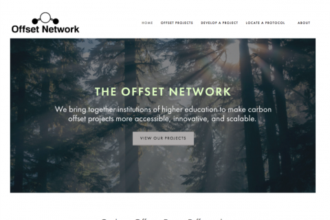image of the Offset Network landing page