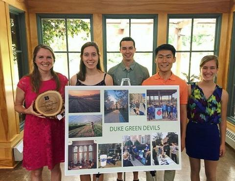 Green Devils accept the Duke University Sustainability Award